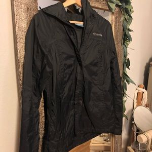 Columbia Rain Jacket (black - small)